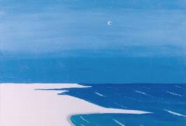 Blaue Stunde am Meer/Acryl auf Leinwand/50x61/2005