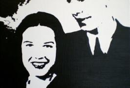 Hochzeit 1946/Acryl auf Leinwand/30x40/2011