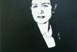 Sabine 2012/Acryl auf Leinwand/30x40/2012